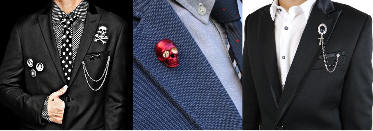 Exercise your right to accessorise , Lapels and pins are